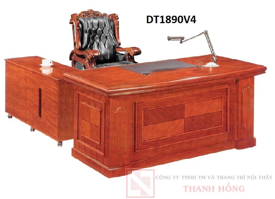 Bàn giám đốc gỗ veneer DT1890V4