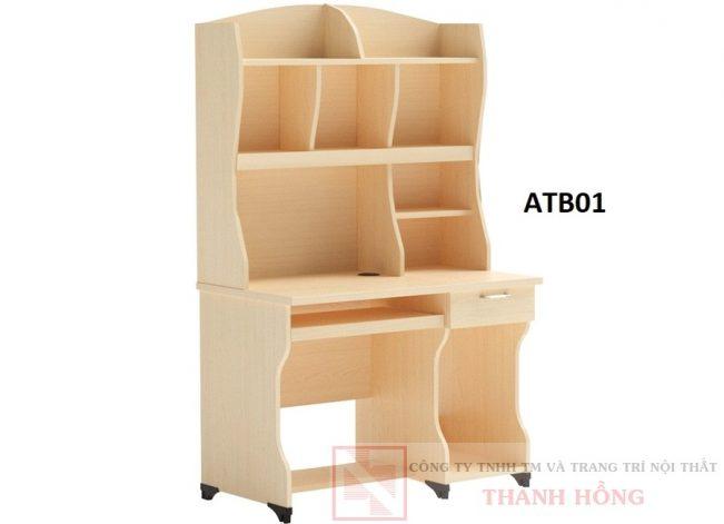 Bàn học sinh liền giá sách ATB01