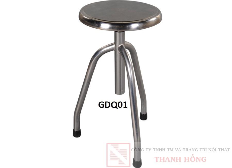 ghế đôn inox quay gdq01