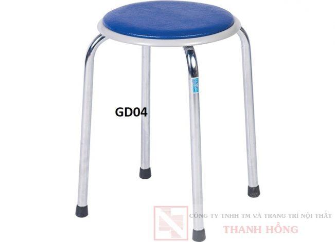 ghế đôn inox 4 chân hòa phát gd04