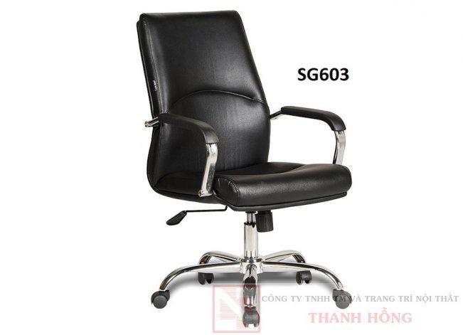 Ghế xoay da công nghiệp lưng trung SG603
