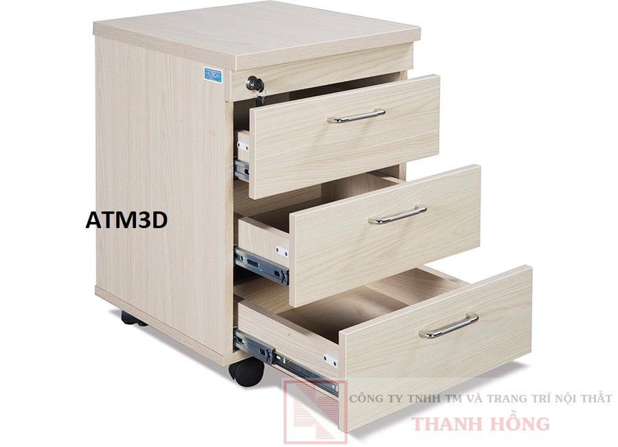 Hộc bàn văn phòng 3 ngăn ATM3D