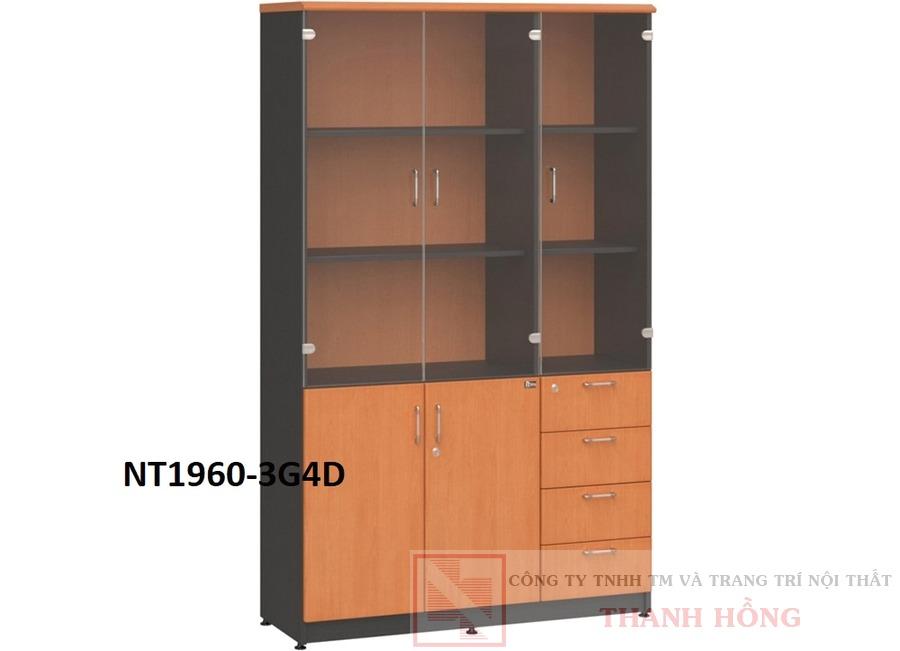 Tủ tài liệu gỗ NT1960-3G/4D