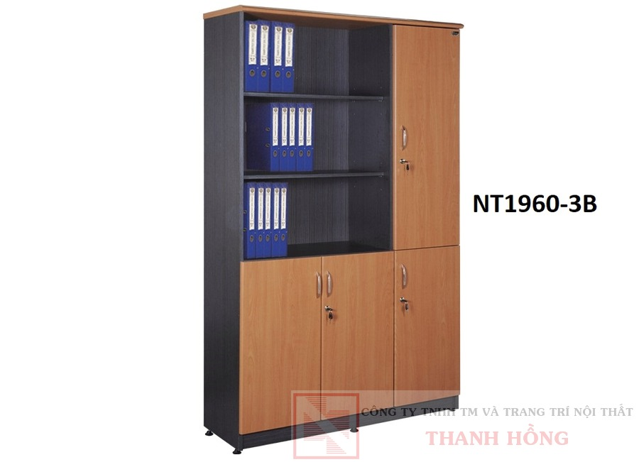 Tủ gỗ tài liệu Hòa Phát NT1960-3B