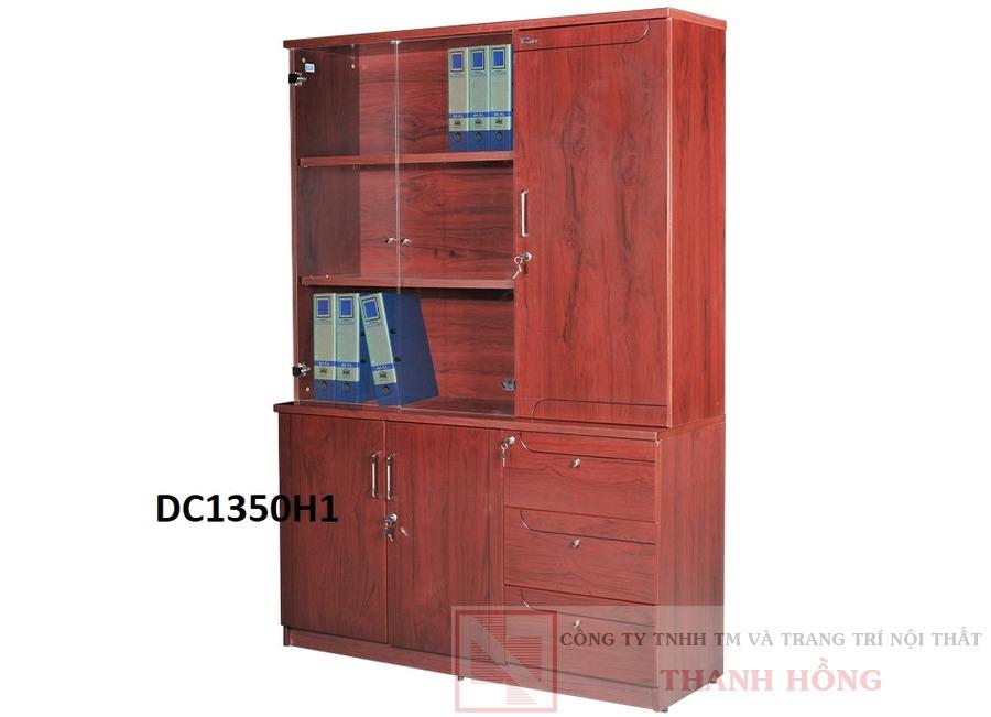 Tủ tài liệu gỗ công nghiệp sơn PU DC1350H1