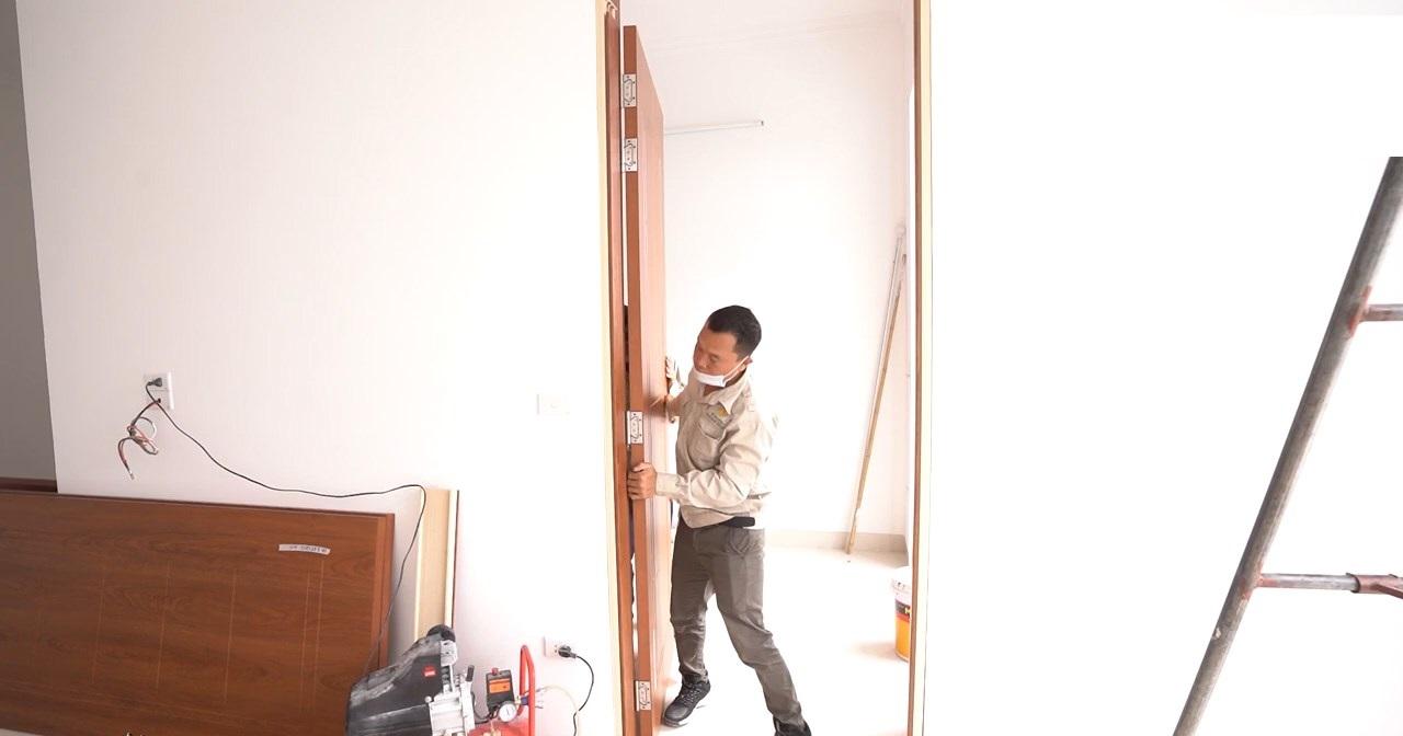 nghiệm thu cửa thông phòng composite